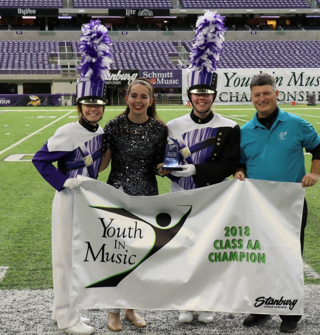 LOURDES EAGLES MARCHING BAND TAKE 1st AT US BANK STADIUM