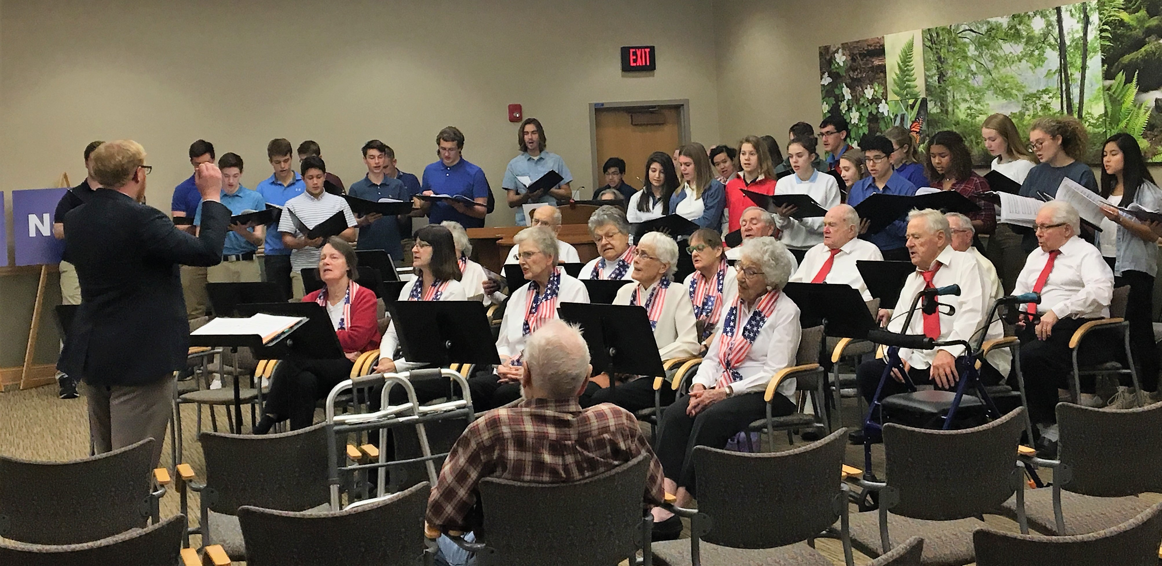 LHS Choir Celebrates Veterans Day at Charter House