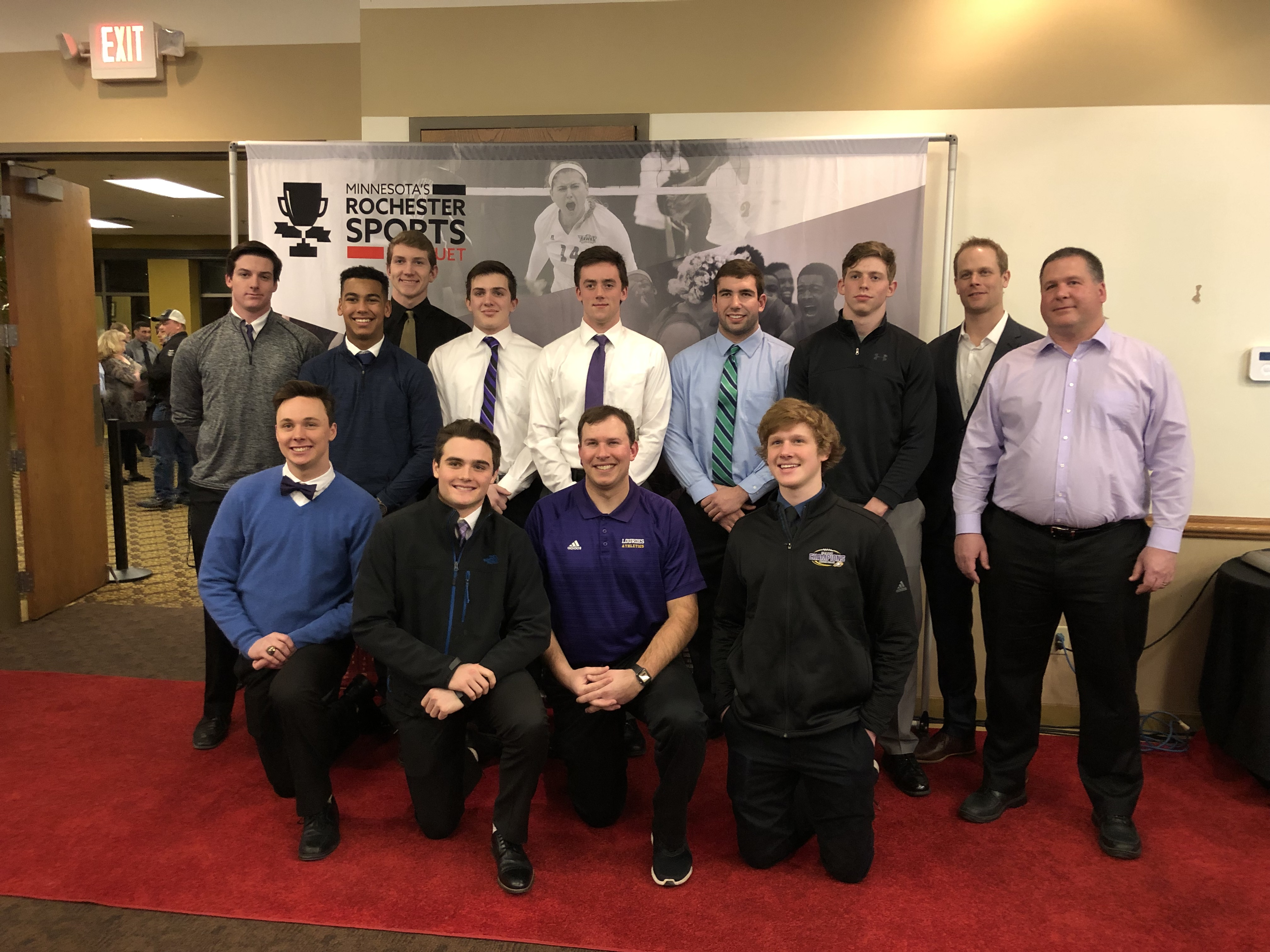 Lourdes Football wins Rochester Sports Banquet Team of the Year