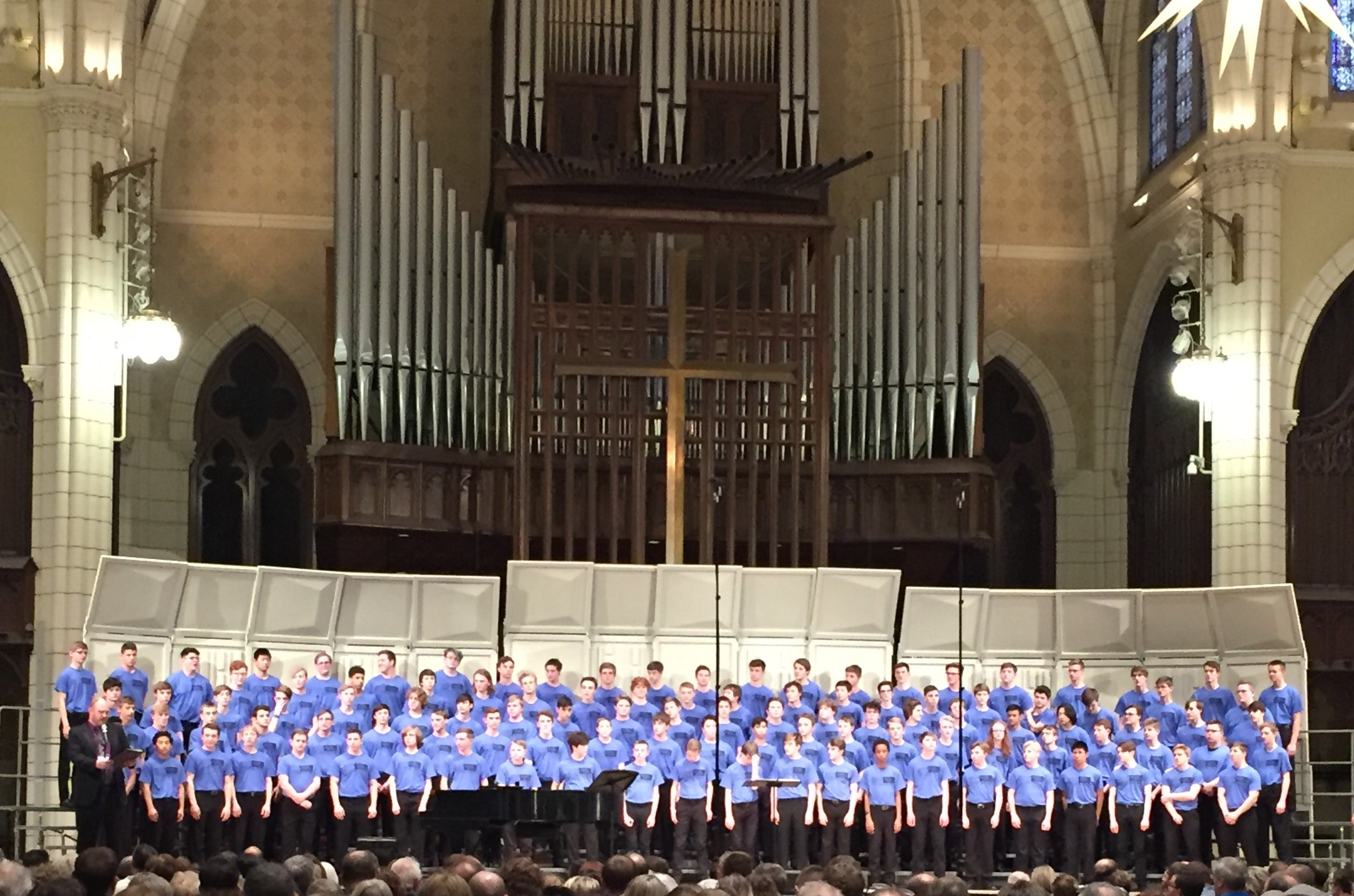 Lourdes student Bosco Jacobson performs with TBB State Honor Choir at Central Luther Church