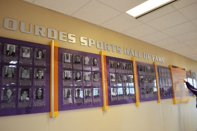 Lourdes Celebrates Athletes with New Hall of Fame Wall