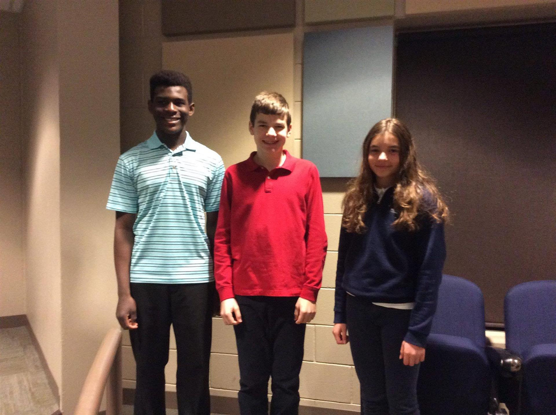 Congratulations to our Rochester Catholic Schools District Spelling Bee Champions!