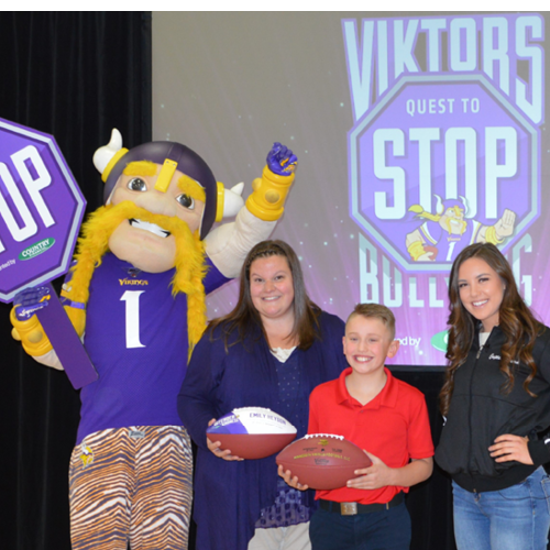 Vikings Present Anti-Bullying Awards
